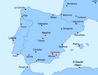 Map Of Yecla Spain.Spanish Property For Sale In The Yecla Area Of Murcia